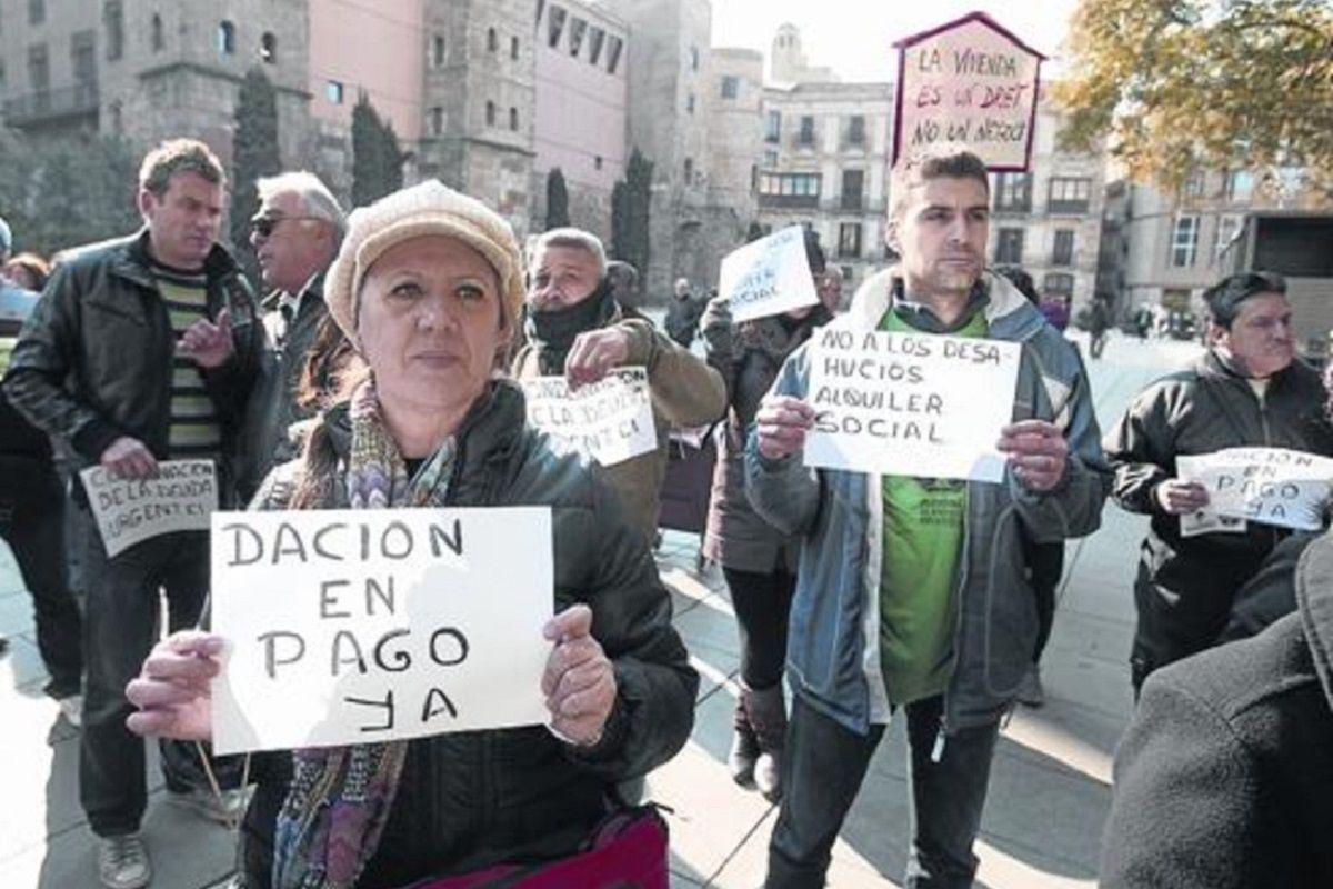 manifestación a favor de la dación en pago
