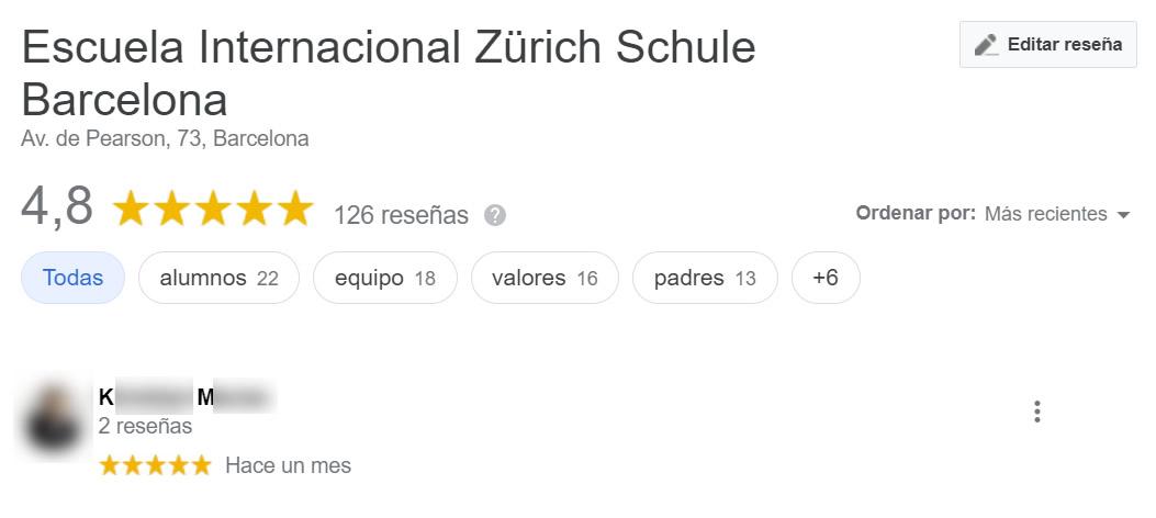 Opiniones sobre Zurich Schule