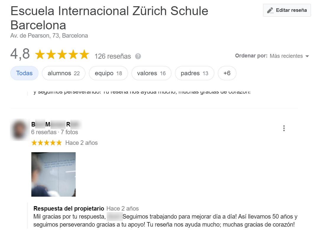 Opiniones falsas de Zurich Schule